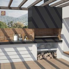 Barbacoa a Medida Brutus Outdoor Bbq Kitchen, Outdoor Barbeque, Outdoor Rooms, Outdoor Living, Outdoor Decor, Barbeque Design, Bali Style Home, Parrilla Exterior, Built In Braai