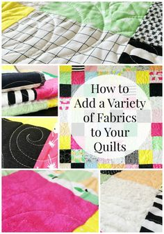 On Adding a Variety of Fabrics to Your Quilts - Simple Simon and Company Quilting Room, Quilting Tips, Quilting Projects, Sewing Projects, Quilt Tutorials, Craft Tutorials, Sewing Tutorials, Rag Quilt, Quilts