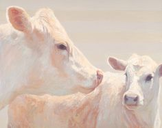 """Angel and her Calf""  oil on panel  24"" x 30"" x 2"""