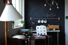 Chalkboard paint, for the intellectual adult, the child, the family. Notes, work and creativity mix with a new form of decor.
