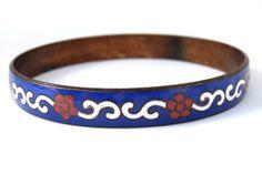 Vintage Cloisonne Enamel Bangle Bracelet by SellitAgainVintage, $25.00