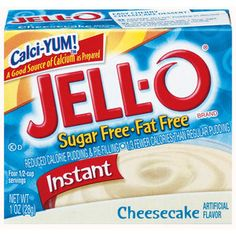 OMGosh! This stuff will really help with cheesecake cravings. Sprinkle a little bit of granola on top or under to give the feel of some crust. Super yummy, low fat, low cal, no sugar. Jell-O: Instant Cheesecake Sugar Free & Fat Free Pudding & Pie Filling, 1 Oz