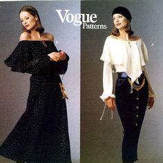 vogue 1188   Vogue 1188 Designer Dress, Body Blouse and Tapered Skirt Donna Karan ...