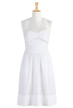 7e84f64863b Summer white eyelet sundress. White Cotton Summer DressWhite ...