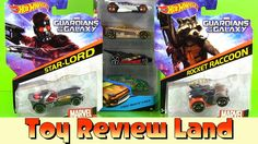 Guardians Of The Galaxy Hotwheels: Star Lord, Rocket Raccoon, and 5 Pack...