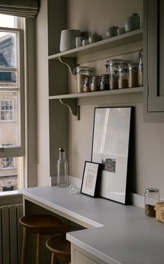 Small galley kitchen, narrow kitchen design, devol kitchen, kitchen with shaker cabinetry