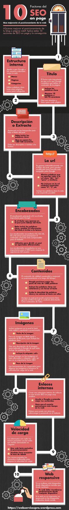 10 factores del SEO onpage #infografia