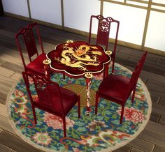 TS2 to 4 Asian Dining Chair Beta by BigUglyHag at SimsWorkshop • Sims 4 Updates