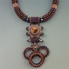 Dragon Claw Necklace, burgundy & coral