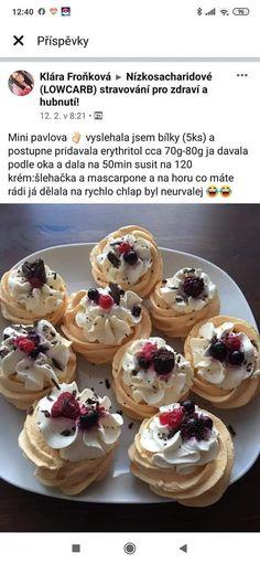 Mini Pavlova, Cheesecake, Low Carb, Breakfast, Desserts, Food, Mascarpone, Kuchen, Morning Coffee
