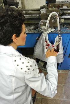 #Biker Jacket #LasVegas Bag made out of inflatable