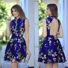 Image may contain: 2 people Sexy Dresses, Cute Dresses, Dress Outfits, Casual Dresses, Short Dresses, Fashion Dresses, Moda Floral, Vestidos Sexy, Vestido Casual