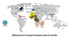 Carte du monde de la langue française
