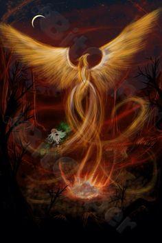 Phoenix- white and light inks....