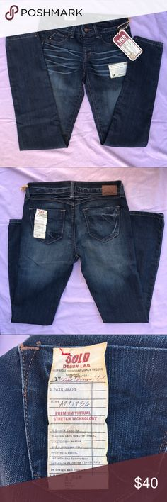 """SOLD Design Lab """"SOHO Super Skinny"""" Darkwash Jean These pull-on jeans are brand new! All of the tags are still attached. Premium denim brand, sure to last you a long time! These can easily be dressed up or down. SOLD Design Lab Jeans Skinny"""