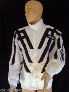 ADIDAS TrackSuit top Mens 80's casual 90's retro sports size LARGE D7 GB 42/44