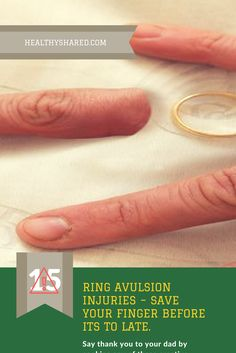 The scary thing is that ring avulsion injuries can happen to just about anyone at anytime and at any place. It simply refers to the process of a finger with