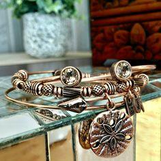 Rose Gold Sand Dollar and other bracelets at bbeni.com