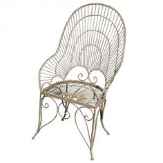 Taupe Curve Iron Chair