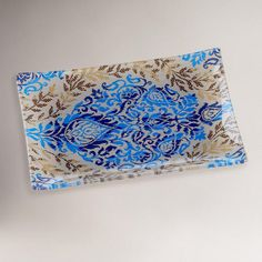One of my favorite discoveries at WorldMarket.com: Large Kyoto Ikat Glass Tray