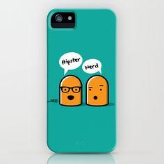 Hipster Nerd iPhone Case by Kioshi Shimabuku - $35.00
