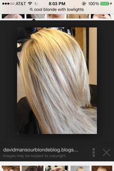 Cool blonde. Perfect.