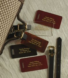 Lucite Luggage Tags
