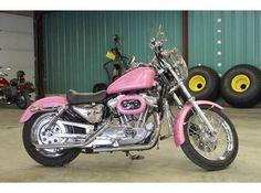 pink 1997 Harley-Davidson Sportster 883