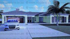 6 Bedroom House Plans - My Building Plans South Africa Round House Plans, Split Level House Plans, Single Storey House Plans, Tuscan House Plans, Square House Plans, Metal House Plans, My Building, Building Plans, 6 Bedroom House Plans