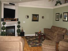 Earth Tones Living Space, This Is Our Living Room With Earth Tones Painted  On The Part 79