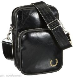 Fred Perry Mens Deconstructed Shoulder Bag Storm 47