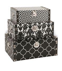 Essentials Storage Boxes Black