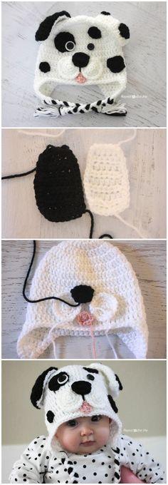 Crochet Dalmatian Dog Pattern
