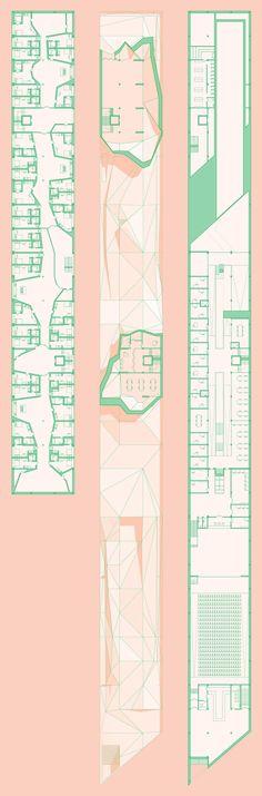 WT9 plan kleur roze groen concept sokkel presentatie