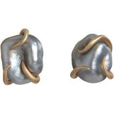 Tahitian Pearl Stud Earrings.