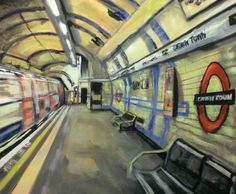 ARTFINDER: Camden Town Underground Station by Paul Mitchell - Original acrylic on block canvas painting of Camden Town Station. Produced in January 2015.