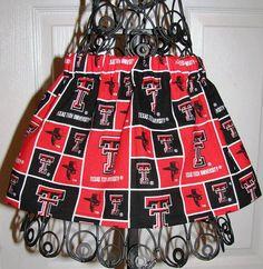 Texas Tech Raiders Girl's Skirt, $13.00 Custom sizes available as fabric stock allows. www.facebook.com/jillybeanstreatsfanpage #TTAA #TexasTech #SupportTradition