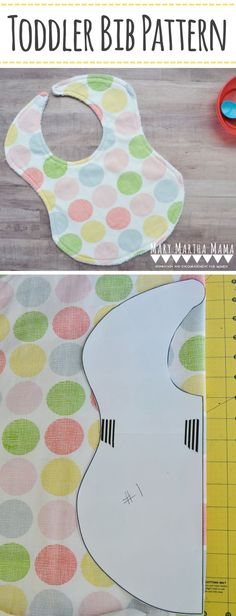 Toddler Bib Pattern [Big Bib] – Mary Martha Mama - Big bib pattern for bigger babies and toddlers #toddlerbibpattern #bigbib #sewingpattern #sewingforbabies