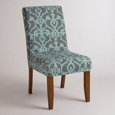 One of my favorite discoveries at WorldMarket.com: Timbercove Blue Anna Chair Slipcover