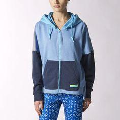 adidas Sudadera con Gorro StellaSport Mujer - Blue | adidas Mexico