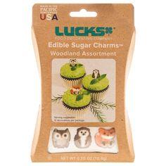 Woodland Animal Edible Sugar Charms