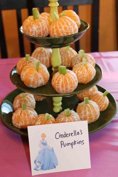 Princess Party Ideas—Birthday tips by a Professional Party Planner disney princess party food cinderella's pumpkins … Moredisney princess party food. Disney Princess Birthday Party, 1st Birthday Parties, Cinderella Party Food, Princess Tea Party Food, Birthday Table, Birthday Kids, Princess Themed Food, Third Birthday, Disney Themed Party