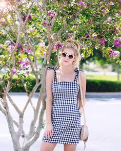 This gingham mini dress is up on A Daydream Love today-link in the bio! I've already worn it twice in the past two weeks! I've linked more gingham dresses here> http://liketk.it/2rKOL @liketoknow.it #liketkit #summerstyle #summer #gingham #ponytail