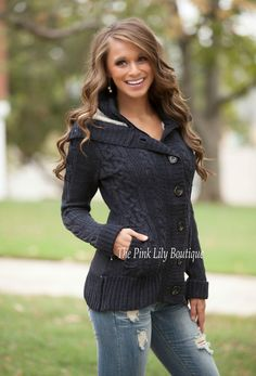 The Pink Lily Boutique - Chill No More Jacket Navy , $45.00 (http://thepinklilyboutique.com/chill-no-more-jacket-navy/)