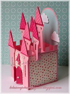 princess, castl map, 3d box cards, op up cards, castl card