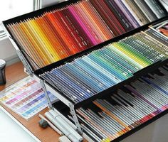 This must be my personal kind of Heaven Faber Castell Polychromos, Art Supplies Storage, Cool School Supplies, Art Studio Organization, Caran D'ache, Stationary School, Coloured Pencils, Diy Canvas Art, Box Art