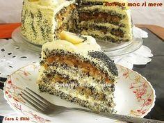 Acesta reteta de tort, la o dimensiune uriasa, a fost premiata in Ungaria la un Concurs national de patiserie ca cea mai buna reteta pe anul Sub denumirea Szabolcsi almás máktorta, ace… Tiramisu, French Toast, Mac, Sweets, Cheesecake, Breakfast, Ethnic Recipes, Food, Pies