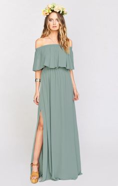 Show Me Your Mumu Hacienda Maxi Dress ~ Silver Sage Crisp Target target bridesmaid dresses - Bridesmaid Dresses Wedding Guest Gowns, Wedding Dresses, Modest Wedding, Wedding Shoes, Tube Dress, Dress Up, Mumu Bridesmaid Dresses, Boho Bridesmaids, Bridesmaids
