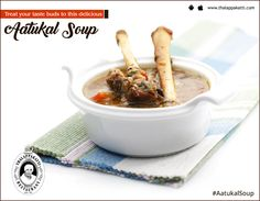 Enjoy a Spicy Sizzling Sunday with this Spicy Aatukal soup at THALAPPAKATTI RESTAURANT   Order Online: http://bit.ly/ThalappakattiWeb  #DindigulThalappakatti #Thalappkatti #ThalappakattiRestaurant #Food #Aatukalsoup #Soup