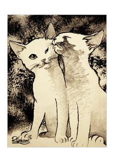 Le baiser du chat par RaphaelVavasseur sur Etsy